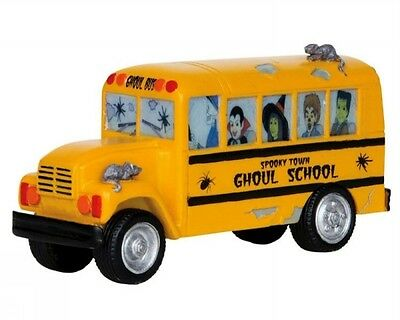 Lemax #13897 - SPOOKY TOWN - Ghoul School Bus - Table Accent - Halloween - NIB