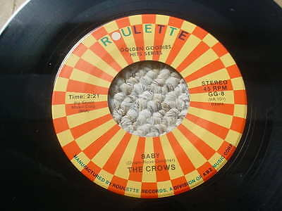 R&B RHYTHM & BLUES THE CROWS baby / gee 45 rpm record roulette gg-8