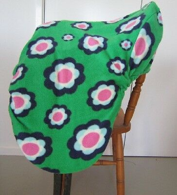 Horse Saddle cover in Floral green FREE EMBROIDERY Made in Australia  Protection