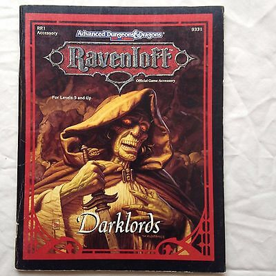 ravenloft darklords dungeons and dragons 2nd edition