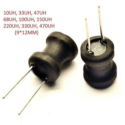 Radial Ferrite Choke Inductor /Coil H Inductors/Wound Inductance 10-470UH 9*12mm