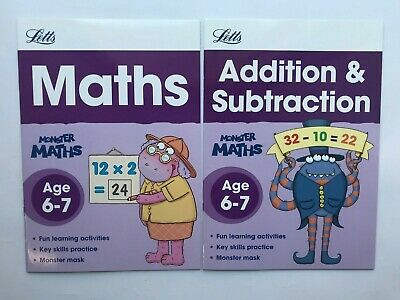 Maths Add Subtract Telling Time Bundle of 3 Home Learning Workbooks Ages 6-7