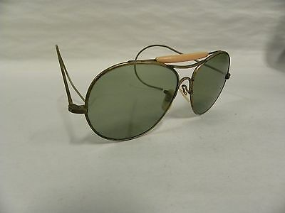 Vtg Visionade Pilot Industrial Machine Age Steampunk Aviator Sunglasses (A20)