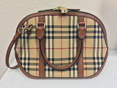 de7278c50997 BURBERRY THE SMALL Orchard Bowling Bag Tan 100% Authentic Guaranteed ...