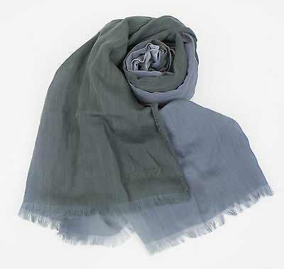 New In Box. BRIONI Men's Gray Cashmere Blend Scarf $995