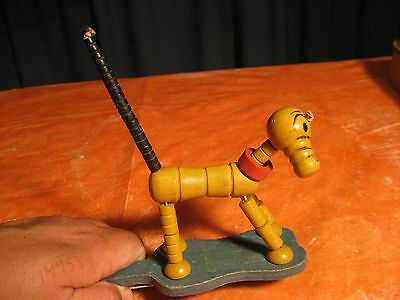 """Vintage Fisher Price Pluto Wooden Jointed Toy Working """"look"""""""