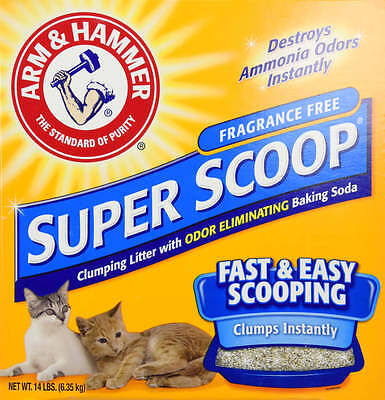 Arm Hammer Super Scoop Clumping Litter Unscented Cleaning Toilet Pet Cat Care