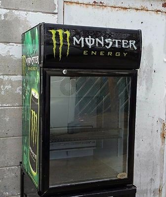 Monster Energy Glass Door Cooler Commercial Refrigerator & Stand PICK UP ONLY