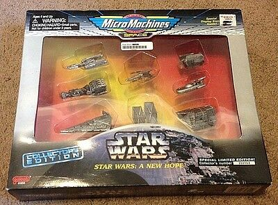 Star Wars Micro machine limited edition collectors set of 8 space ships New Hope