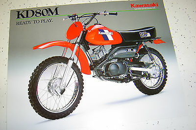 1984 Kawasaki KD80M Sales Brochure,Genuine NOS, 2Pages.