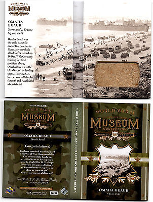 2016 UD Goodwin World War II Museum Collection Relic Booklet - Omaha Beach D-Day