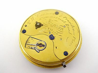 1800s Antique Fusee Mechanical Pocket Watch Movement RW Cousens London LAYBY AV