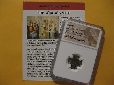 NGC Widows Mite 2000 year old coin  Bible story gift fo religion, Christian 030