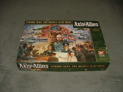 Axis & Allies-2009-WWII-Spring-1942-Avalon-Hill-Board-Game COMPLETE Light Play