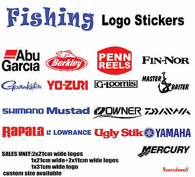 Daiwa Berkley Penn Abu Garcia Ugly Stik Gamakatus..Fishing Boat Stickers Decals
