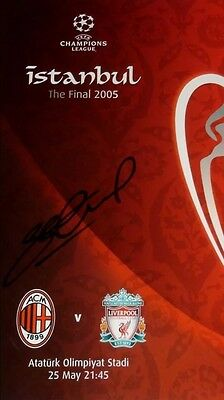 Hand signed Steven Gerrard Liverpool Champions League Final 2005 Programme