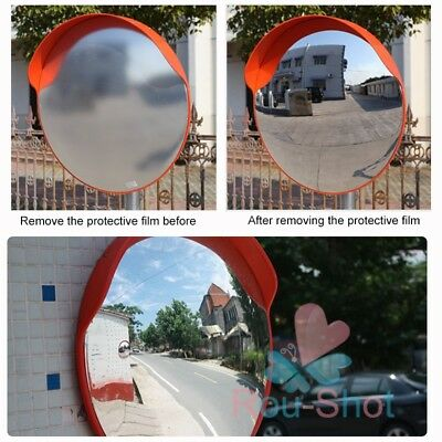 60cm Convex Mirror Blind Spot Safety Mirror Traffic Shop Junction w/ Bracket【AU】
