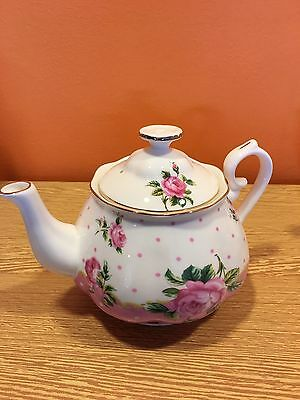 Miranda Royal English Teapot - Pink Spot/ Great Discount, Limited Offer