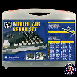 Vallejo Model Air Comouflage Colours w/Airbrush and Hose 71173 Brand New