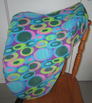 Horse Saddle cover in 70s Bubble print FREE EMBROIDERY Made in Australia