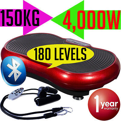 4000W Vibrating Plate Round Standing Exercise Abs Gym Machine Equipment Workout