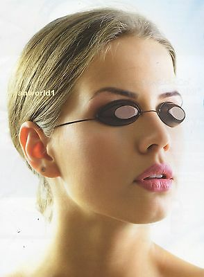 2x SUNBED TANNING GOGGLES ELASTICATED CORD FOR EYE PROTECTION SLIMLINE IGOGGLES