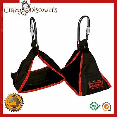 Ab-Crunch Sling Abs Strap Weight Lifting Door Hanging GYM Chinning Bar Fitness N