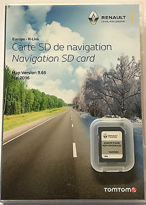 Renault R-Link Tomtom Map Navigation Sd Card 2016 Europe R-Link 9.6 Latest