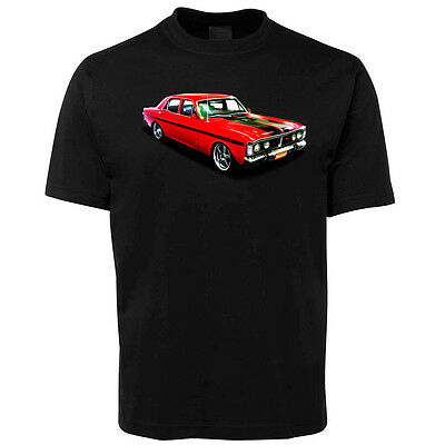 New Black Ford GT Falcon Illustrated T Shirt Size S -5XL +7XL
