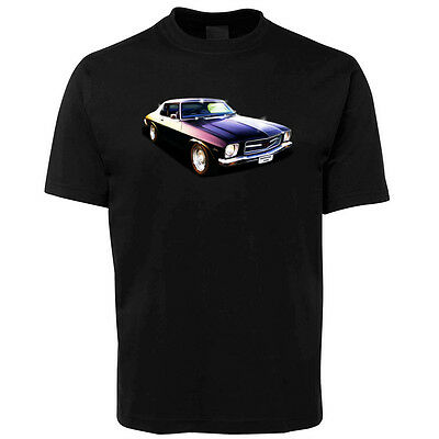 New Black Holden Monaro Illustrated T Shirt Size S -5XL +7XL
