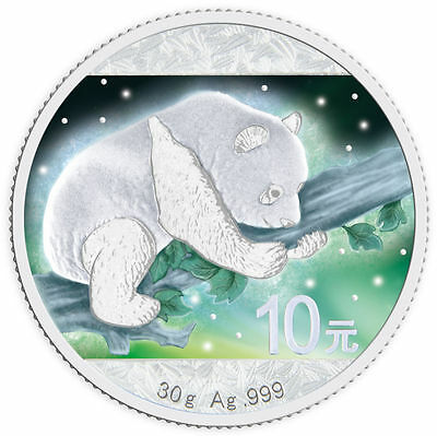 2016 Frozen Chinese Panda 30 Gram Silver & Rhodium Plated & Color(No.12 of 500)