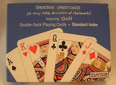 Vintage Shoebox Greetings Playing Cards Featuring Golf Slogan