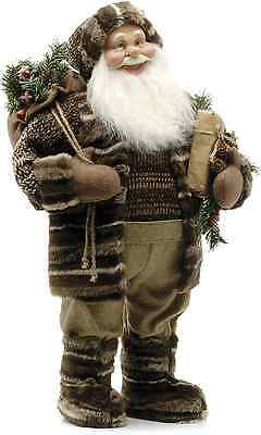 Festive Productions 109609 60cm Woolly Forest Santa