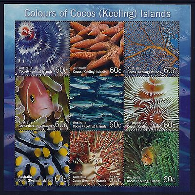 2011 Cocos Islands Colours Of Cocos Embellished Minisheet Fine Mint Mnh/muh