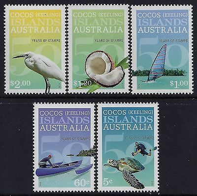 2013 Cocos Islands 50 Years Of Stamps Set Of 5 Fine Mint Mnh/muh