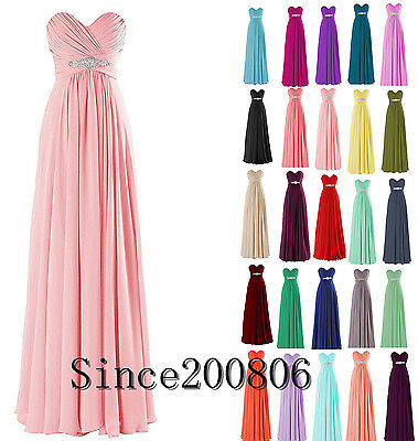 New Chiffon Long Formal Prom Cocktail Party Ball Gown Evening Bridesmaid Dress