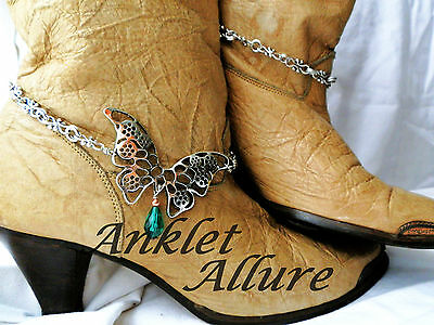 Butterfly Boot Chains Teardrop Crystal Boot Jewerly Boot Bracelets Anklets
