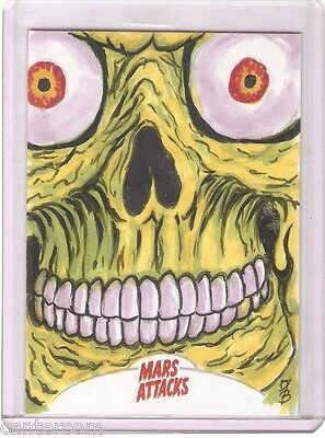 Mars Attacks Invasion (2013) Autograph Card 1/1 Dan Bergren