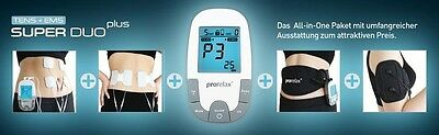 Prorelax 85835 Tens EMS Super duo PLUS mit Back belt Arm cuff + Electrodes
