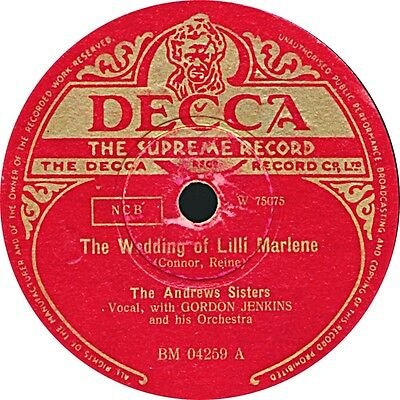Andrews Sisters - The Wedding of Lilli Marlene - 1949