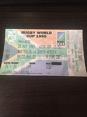 Australia V South Africa - Rugby World Cup (RWC) 1995 Ticket - Rare