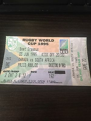 Canada V South Africa - Rugby World Cup (RWC) 1995 Ticket - Rare