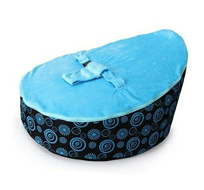 Deluxe Lovely Baby Toddler Bean Bag Kids Seat Pod Portable Resting BlueTop Chair
