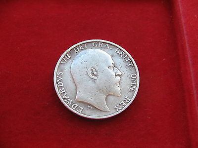 NICE KING EDWARD VII SILVER SHILLING 1907  Free post GENUINE UK SELLER