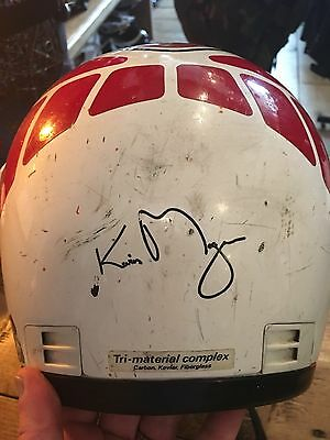 Signed Kevin Magee ( Motorcycle Grand Prix Rider) Shoei Crash Helmet. 1980's