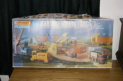 Stunning Vintage Rare Matchbox Goods Yard Playset Ps 4 Excellent Boxed