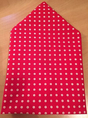 Red Polka Dot with SMALL White Spots Dog Bandana / Scarf  XS S M L XL  Free P&P