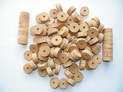 """30 Cork Rings Overstock Flor 11/4""""x1/2"""" Bore 1/4"""""""