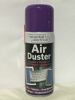 200ml Compressed Air Duster Spray Can Cleans Protects Laptops Keyboards etc NEW