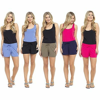 Womens Summer Holiday Ladies Jersey Cotton Hot pants beach Shorts